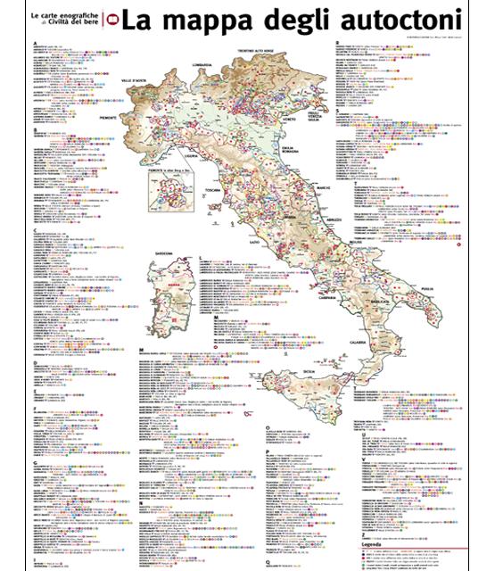 La Mappa degli Autoctoni d'Italia